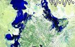 آخرین و بروزترین تصویر ماهواره ای از روند آبگیری هامون و سیلاب ورودی به سیستان  ۹۹/۰۱/۳۰