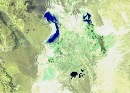 آخرین وضعیت آب موجود در تالاب بین المللی هامون  ۸دی ماه ۱۳۹۹