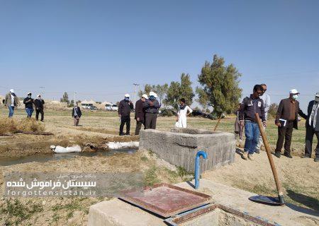 گزارش تصویری بازدید خبرنگاران از طرح ۴۶هزارهکتاری آبیاری نوین به دشت سیستان