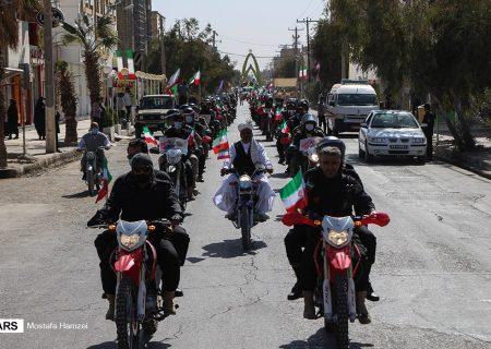 راهپیمایی ۲۲ بهمن در زابل به صورت رژه خودرویی و موتوری