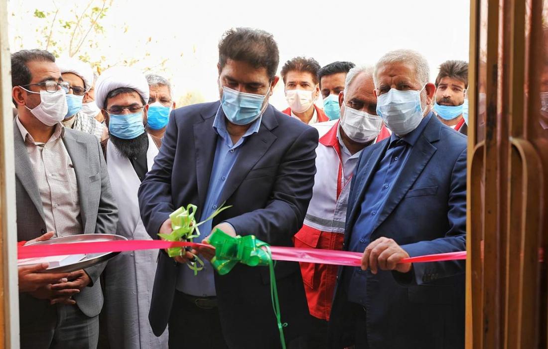 افتتاح خانه هلال شهید عیسی توجگی و کلنگزنی پروژه آبرسانی در زهک با حضور دکتر همتی